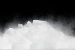 Droog ijs met damp royalty-vrije stock foto's