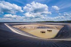 Droog Lam Takong-reservoir, Nakhon Ratchasima, Thailand Stock Fotografie