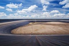 Droog Lam Takong-reservoir, Nakhon Ratchasima, Thailand Royalty-vrije Stock Fotografie