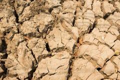 Droog land Gebarsten grondachtergrond Stock Afbeelding