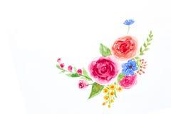 Droog nam met dalende bloemblaadjes op wit toe Stock Afbeeldingen