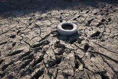 Droog rivierbed stock afbeelding