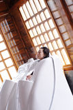 Droog saunabed royalty-vrije stock foto's