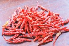 Droog Spaanse pepersrood Royalty-vrije Stock Fotografie