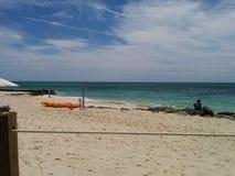 Droog Tropisch strand Stock Foto's