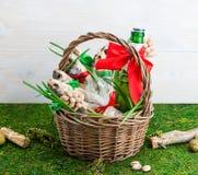Droog vissen en bier, St Patrick ` s Dag, 23 Februari Royalty-vrije Stock Fotografie