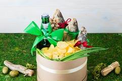 Droog vissen en bier, St Patrick ` s Dag, 23 Februari Stock Afbeeldingen