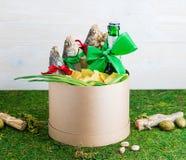Droog vissen en bier, St Patrick ` s Dag, 23 Februari Stock Afbeelding