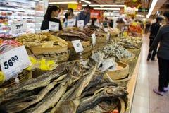 Droog voedsel in de Chinese supermarkt Stock Fotografie
