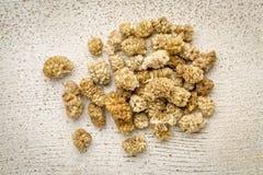 Droog wit moerbeiboomfruit Stock Foto's