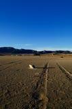 Droog zout meer - woestijnlandschap Royalty-vrije Stock Afbeeldingen