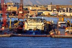 Droogdok in de haven van Napels Royalty-vrije Stock Fotografie