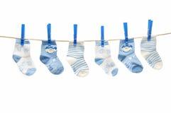 Drooglijn met sokken stock afbeelding
