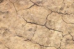 Droogte. Grond in woestijn. Natuurramp stock afbeelding