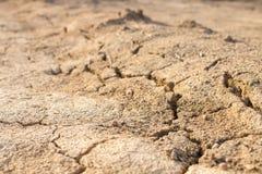 droogte Grond in zandwoestijn dor klimaat in Thailand royalty-vrije stock foto's