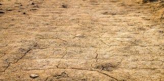 droogte Grond in zandwoestijn dor klimaat in Thailand royalty-vrije stock foto
