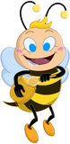 Drooling Bee Holds Honey Jar Royalty Free Stock Image