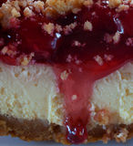 Drooling cheesecake Royalty Free Stock Photography