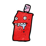 Drooling spraycan cartoon Stock Photography
