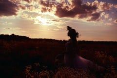 Droom bij zonsondergang Royalty-vrije Stock Foto's