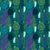 Droomvanger met veren naadloos patroon vector illustratie
