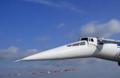 Droop-snooper of jetliner. Droop-snooper is a part of jetliner Stock Photos