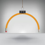 Drooping Pencil Hung by a Binder Clip Stock Image