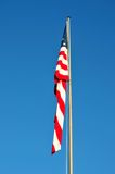 Droopy American Flag. American Flag without Wind to Wave Royalty Free Stock Photo
