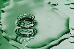 Drop. A green drop of water Royalty Free Stock Image