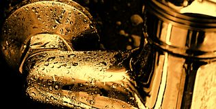 Drop. Gold drops, macro, abstract, backgrounds royalty free stock photography