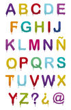 Drop alphabet Stock Images