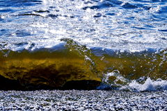 Baltic Sea. The Baltic Sea and the birth of amber. Bright colors, shimmering water. sunlight Stock Photography