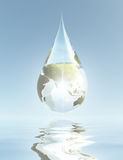 Drop Asia. Drop of pure water Asia Stock Image
