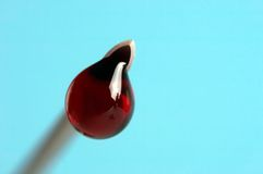 Drop of blood Royalty Free Stock Photography