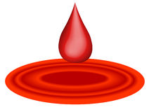 Drop of blood Royalty Free Stock Photos