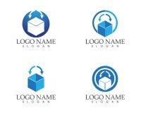 Drop box icon logo design concept.  Royalty Free Stock Photography