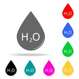 Drop and chemical formula of water icon. Elements of School and study multi colored icons. Premium quality graphic design icon. Si. Mple icon for websites, web Stock Image