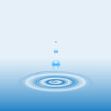 Drop and Circle Ripples on the Water Royalty Free Stock Photos