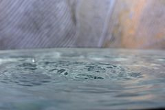 Drop of clean water. Closeup royalty free stock photo