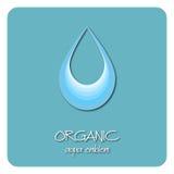 Drop of clean water decorative element . Aqua design template. Blue water concept. Geometric  illustration. Stock Photography