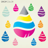 Drop Cmyk vector Royalty Free Stock Photography