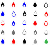 Drop different colour - set icons. Royalty Free Stock Photos