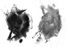 Drop down and soft Chinese ink effect. On wet paper. Scanned with the High resolution royalty free illustration
