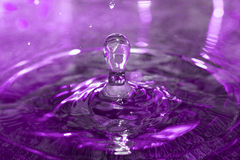 Drop falling into water Stock Photo