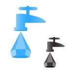 Drop from a faucet Stock Photos