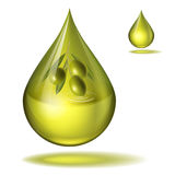 A drop of fine olive oil vector Royalty Free Stock Images