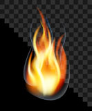 Drop fire flame torch burning smoke translucent transparent.  Stock Image