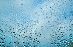 Drop on glass Stock Image