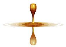 Drop of gold. Stock Image