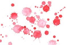 Drop grunge red ink splashes. Stock Photography
